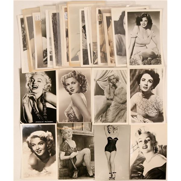 Hollywood Pinup Girls Group of Postcards (28)  [111720]