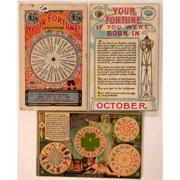 Set of 3 Fortune Teller Postcards c. 1910  [135488]