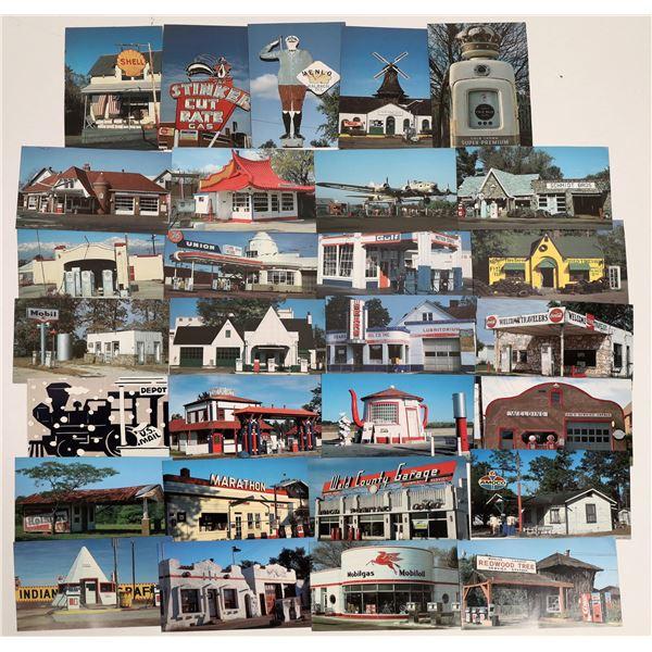 Unique Gas Stations Postcard Collection  [132062]