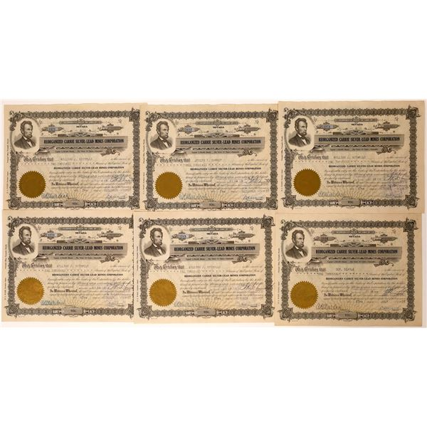 Reorganized Carrie Silver-Lead Mines Corporation Certificates  [131816]