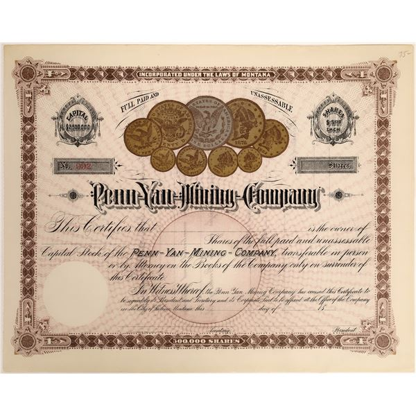Penn Yan Mining Company Stock  [118366]