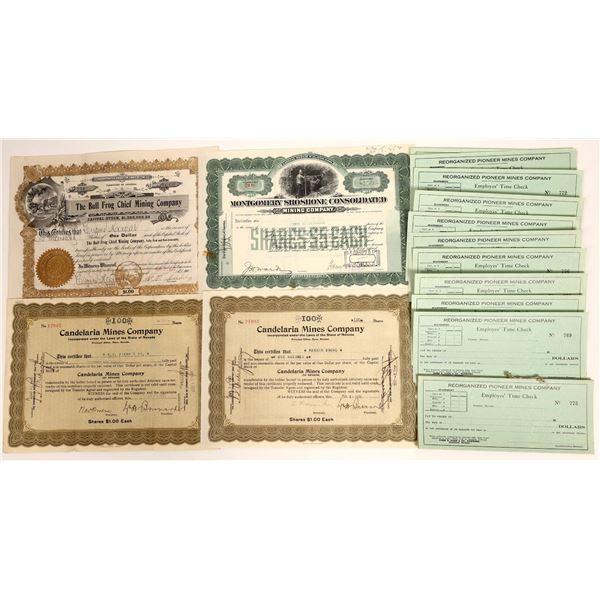 Bullfrog/Candelaria Stock Certificates  [132093]
