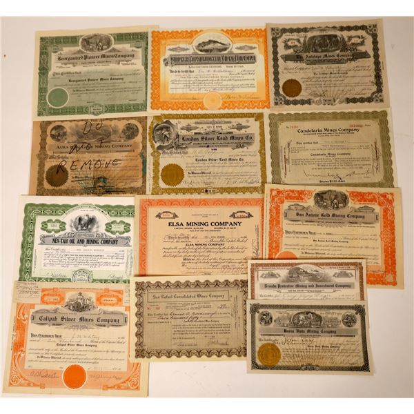 Nevada Mining Stock Certificate Collection  [130085]