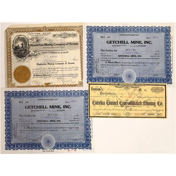 Nevada Mining Stock Certificate Collection  [132094]