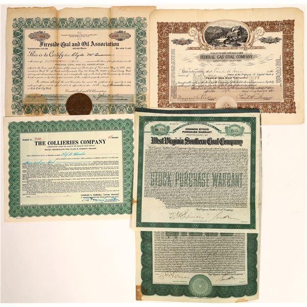 Coal Company Stock Certificates  [132100]
