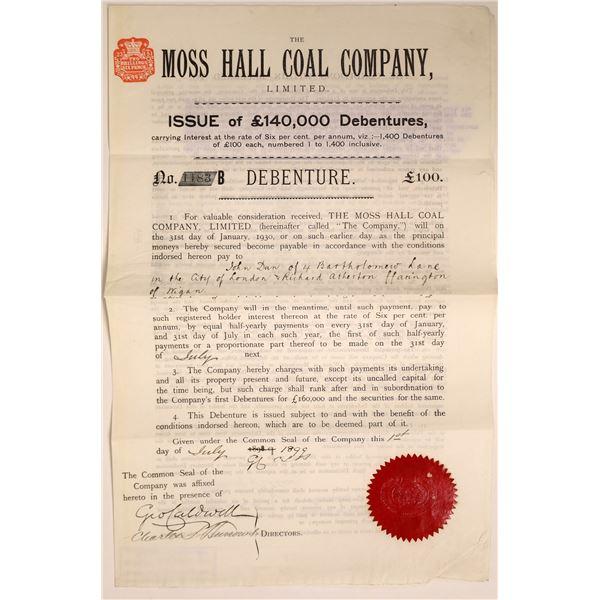 Moss Hall Coal Company Bond, Lancashire, England, 1899  [111841]
