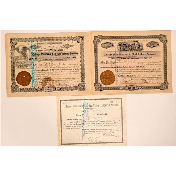 Chicago, Milwaukee & St. Paul Railway Stocks--Three No. Ones  [135390]