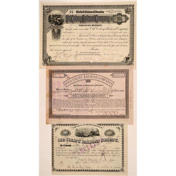 Old Colony Railroad Co. stocks/bonds  [135401]