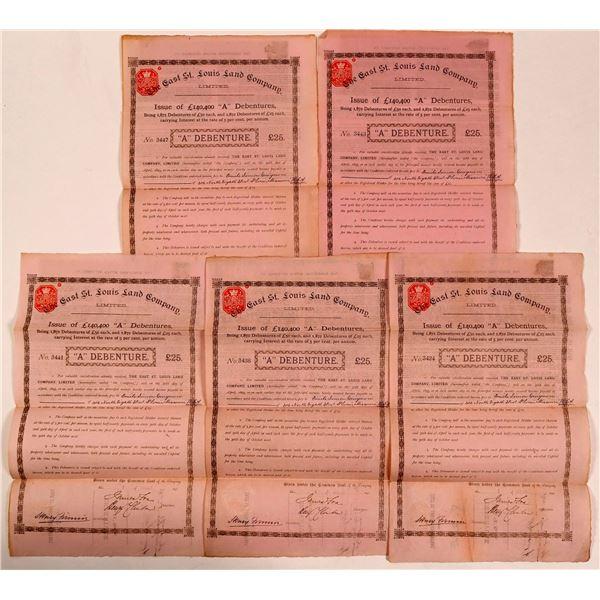 East St. Louis Land Company, Limited Bonds (5)  [135384]