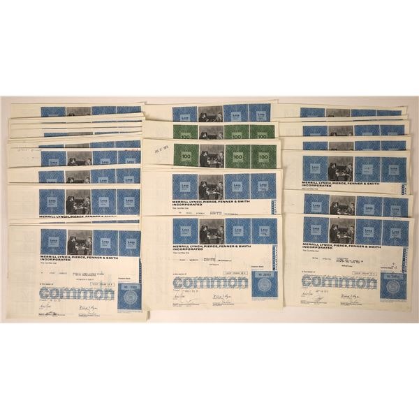 Merrill Lynch Stock Certificates (100)  [131875]