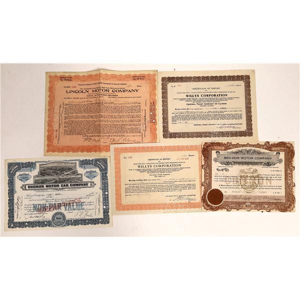 Auto Company Certificates  [111862]