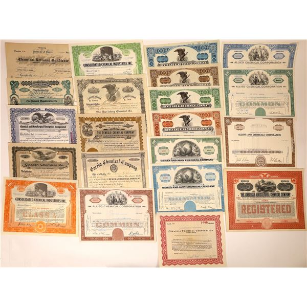 Chemical Companies' Stock Certificates (28) and Bonds (3) (31 Total)  [127979]
