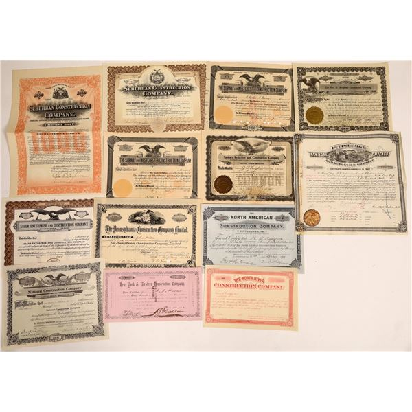 Construction Company Stock Certificates  [132077]