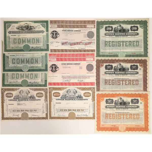 Cities Service Company Stock Certificates  [132104]