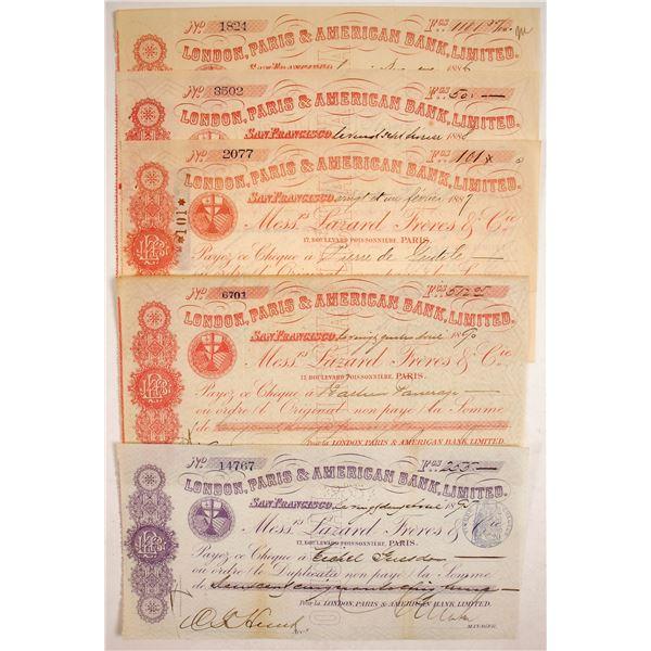 London, Paris & American Bank, Ltd. Exchanges  [77547]