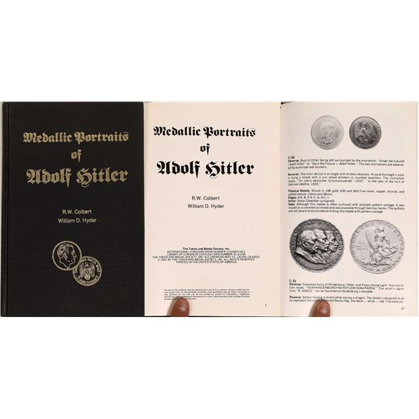 Medallic Portraits of Adolph Hitler a Book by Colbert and Hyder  [132856]