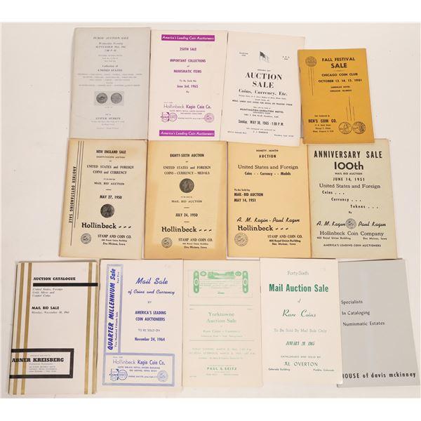 Vintage Coin Auction Catalogs  [132033]