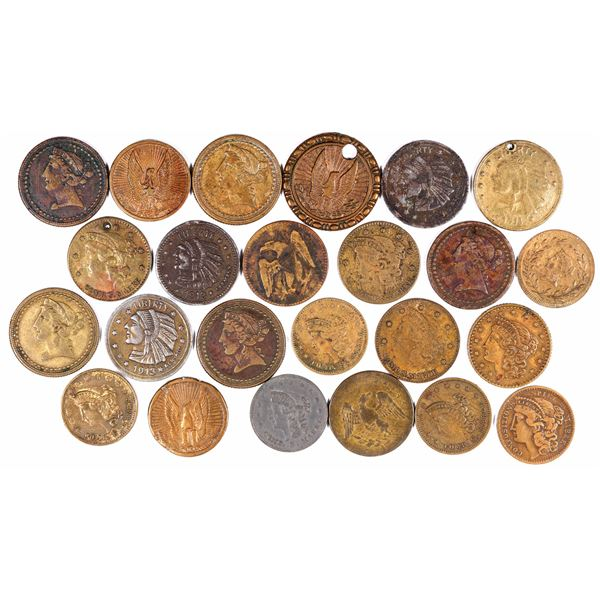 $2 1/2 Liberty and Indian Head Counters   [129343]