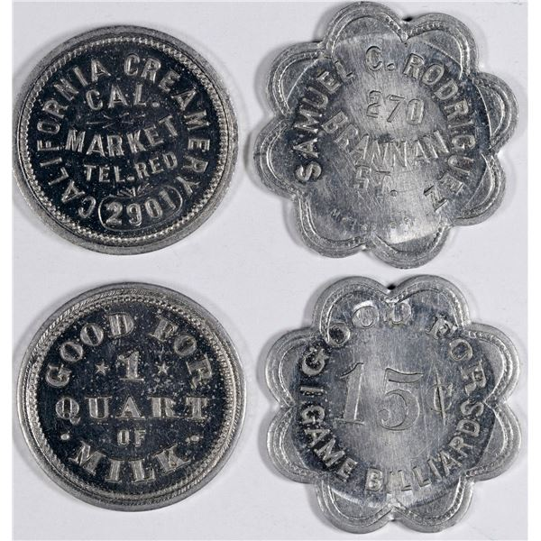 2 San Francisco Tokens- One Extremely Rare  [135478]
