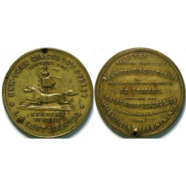 SHELL CARD / B-NY-6600/ NY, New York / L.B. Lent's New-York Circus  / Mirror  [135480]