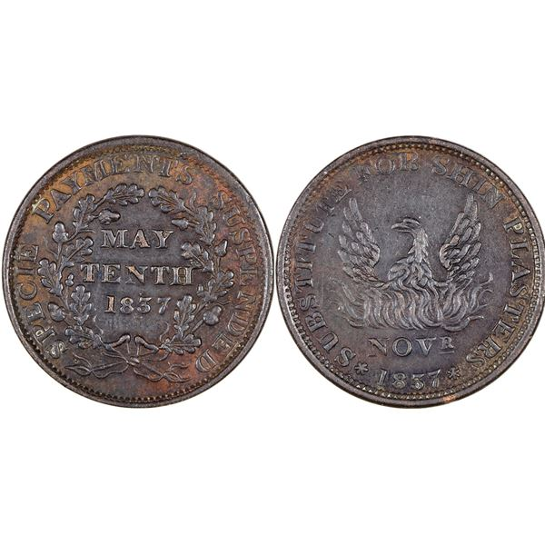 Hard Times Token: Substitute for Shin Plasters  [129331]