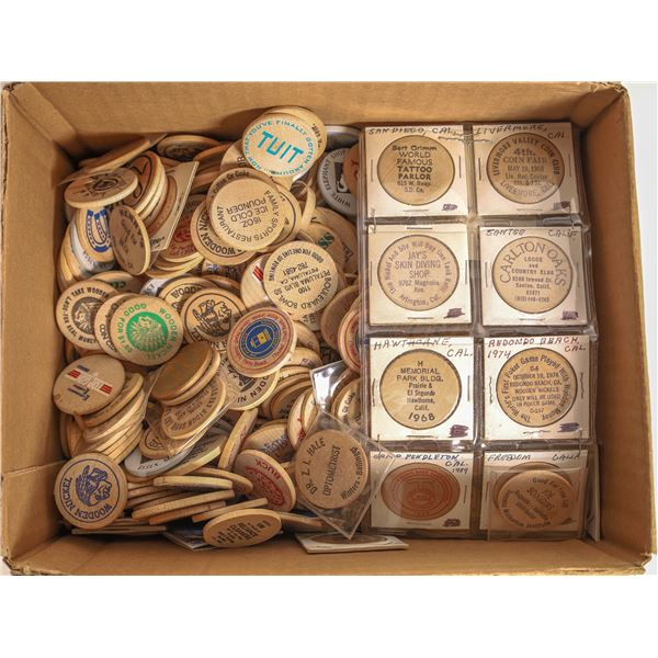 Massive Eastern Wooden Nickel Collection (With Some West Coast)  [131786]