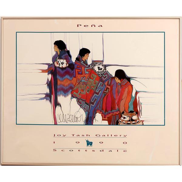 Amado Pena--Three Native Americans--Indian Market [132466]