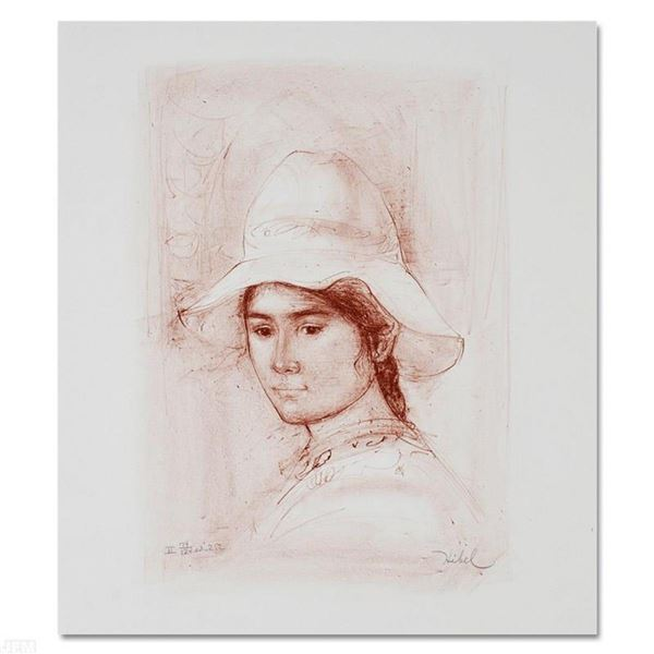 """""""Magda"""" Limited Edition Lithograph by Edna Hibel (1917-2014), Numbered and Hand"""