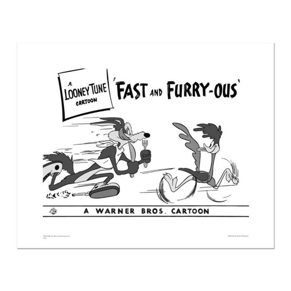 """""""Fast and Furry-ous"""" Numbered Limited Edition Giclee from Warner Bros. with Cert"""