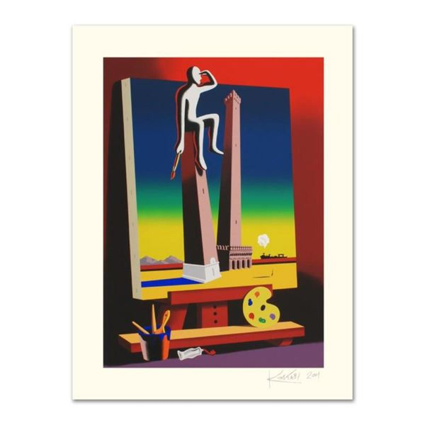 """Mark Kostabi, """"Loophole With A View"""" Limited Edition Serigraph, Numbered and Han"""