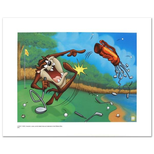 """""""Terrible Taz Golf"""" Limited Edition Giclee from Warner Bros., Numbered with Holo"""