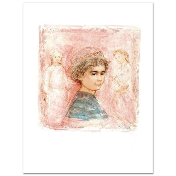 """""""Matthew"""" Limited Edition Lithograph by Edna Hibel (1917-2014), Numbered and Han"""