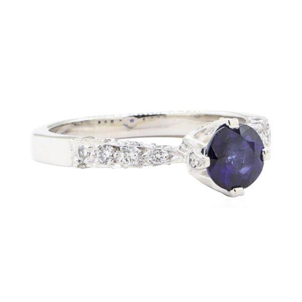 1.69 ctw Sapphire And Diamond Ring - Platinum
