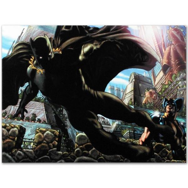 """Marvel Comics """"Wolverine #52"""" Numbered Limited Edition Giclee on Canvas by Simon"""