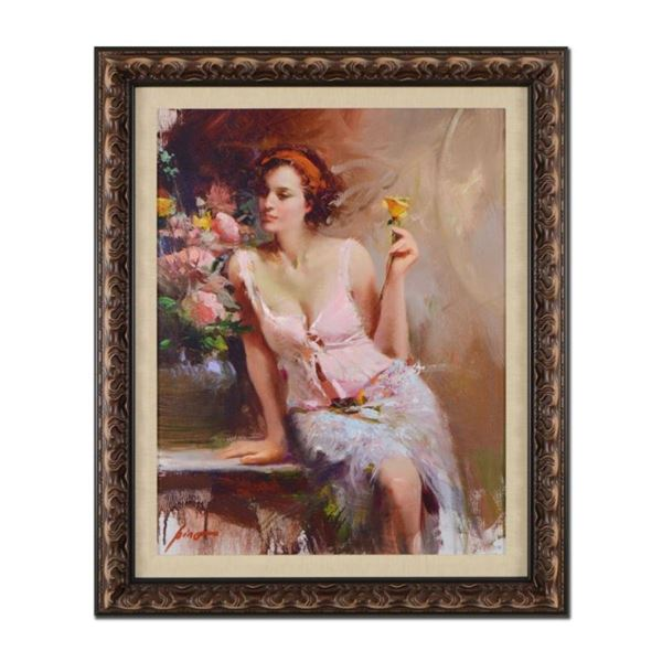 """Pino (1939-2010), """"Sweet Scent"""" Framed Limited Edition Artist-Embellished Giclee"""