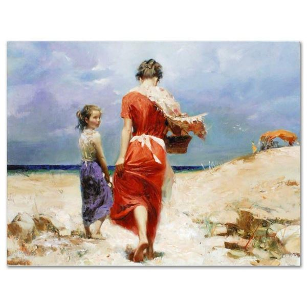 """Pino (1939-2010), """"Summer Retreat"""" Artist Embellished Limited Edition on Canvas,"""