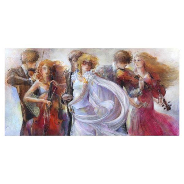 """Lena Sotskova, """"Just Love"""" Hand Signed, Artist Embellished Limited Edition Gicle"""