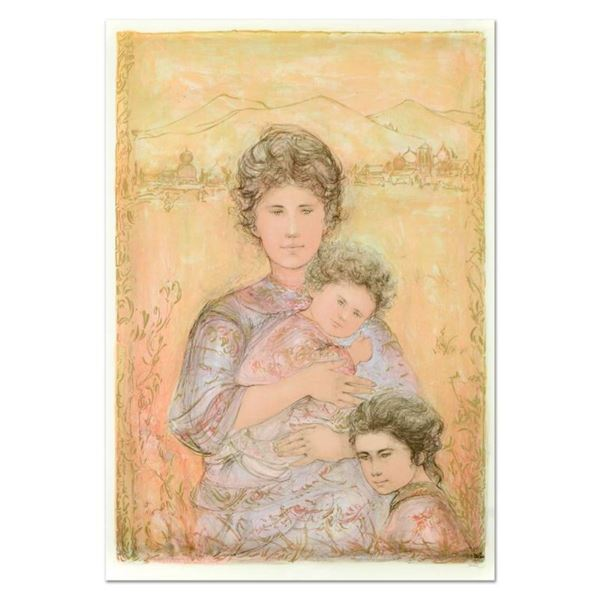 """Edna Hibel (1917-2014), """"Tatyana's Family"""" Limited Edition Lithograph, Numbered"""