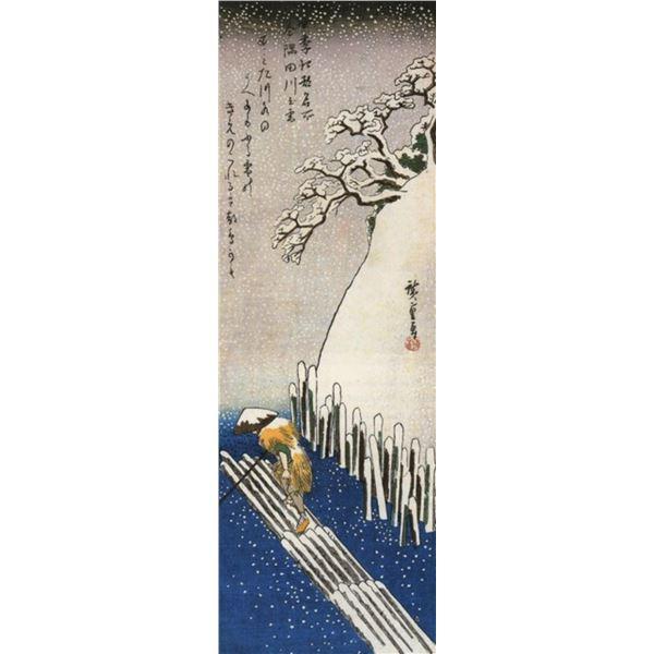 Hiroshige Man on a Raft