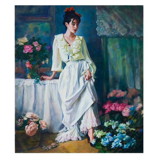 """Igor Semeko, """"Classy Lady"""" Hand Signed Limited Edition Giclee on Canvas with Let"""