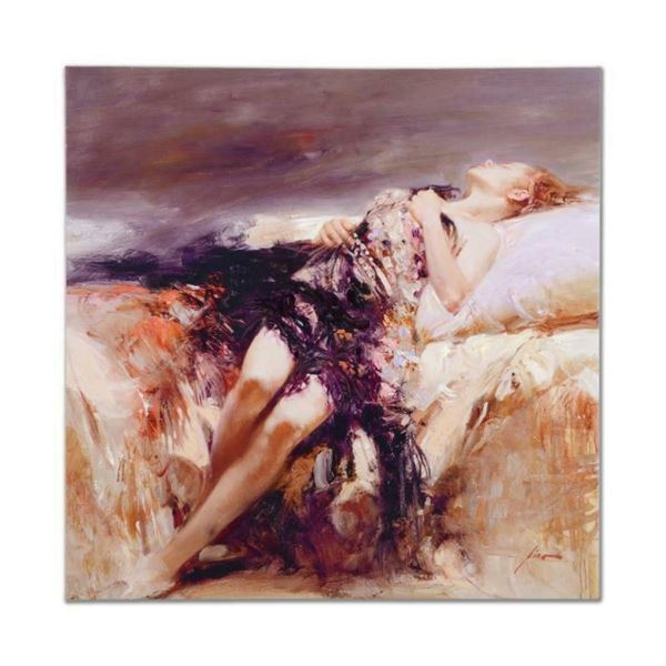 """Pino (1939-2010), """"Ecstasy"""" Artist Embellished Limited Edition on Canvas (36"""" x"""