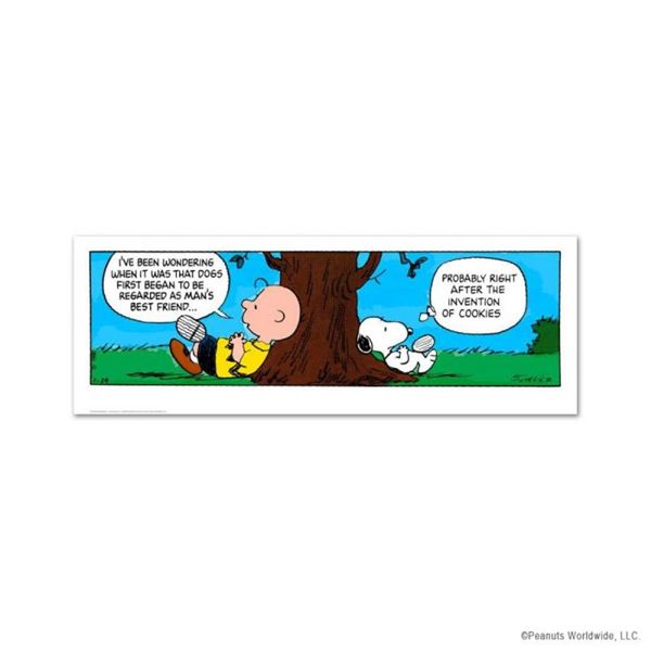 """Peanuts, """"Invention of Cookies"""" Hand Numbered Limited Edition Fine Art Print wit"""