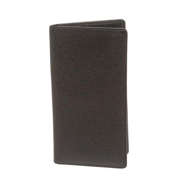 Louis Vuitton Black Ta�ga Leather Porte-Valeurs Cartes Cr�dit Wallet
