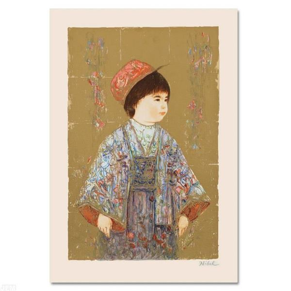 """""""Festival Day"""" Limited Edition Serigraph by Edna Hibel (1917-2014), Numbered and"""