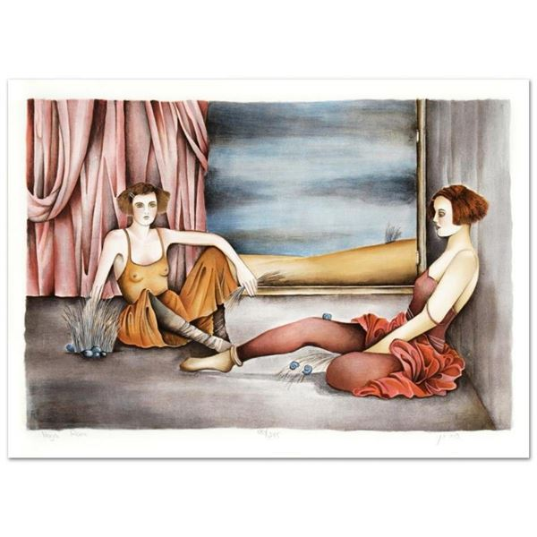 """Haya Ran, """"Behind the Curtain"""" Hand Signed Limited Edition Serigraph with Letter"""