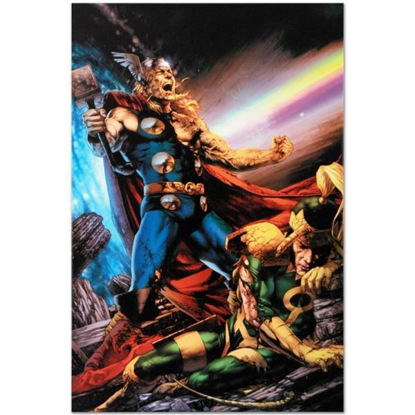 """Marvel Comics """"Thor: First Thunder #5"""" Numbered Limited Edition Giclee on Canvas"""