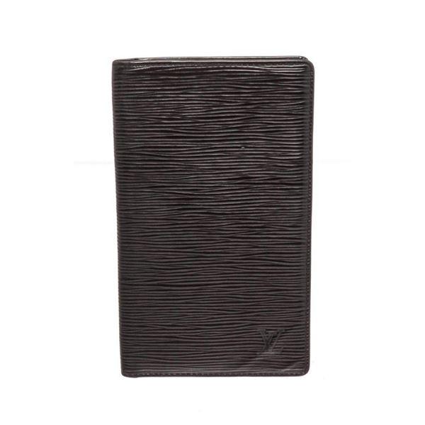 Louis Vuitton Black Epi Leather European Checkbook Wallet