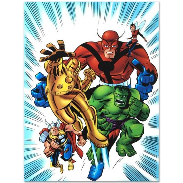 """Marvel Comics """"Avengers #1 1/2"""" Numbered Limited Edition Giclee on Canvas by Bru"""