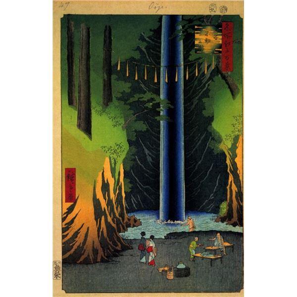Hiroshige  - Fudo Falls