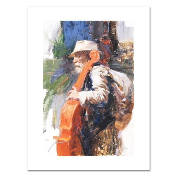 """Pino (1931-2010), """"The Red Viola"""" Limited Edition on Canvas, Numbered and Hand S"""